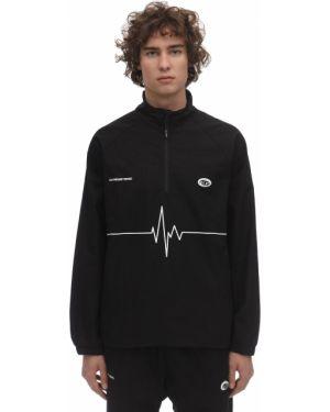 Czarna bluza bawełniana z raglanowymi rękawami Deadnight