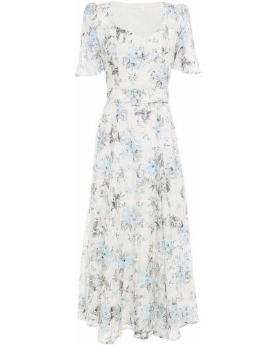 Шелковое платье миди - белое Goat