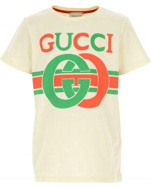 T-shirt z logo biały Gucci