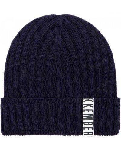 Трикотажная синяя шапка Bikkembergs