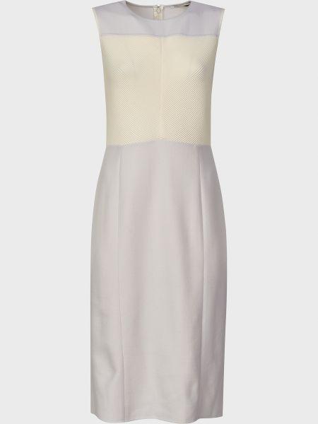 Шерстяное платье - серое Agnona