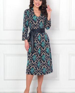 Платье с поясом с V-образным вырезом платье-сарафан Bellovera