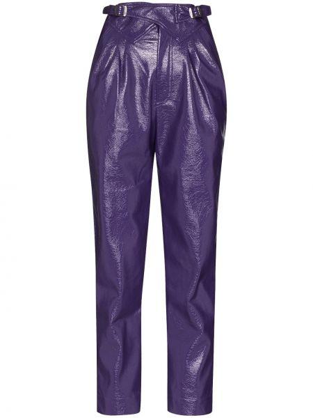 Брючные фиолетовые брюки Rotate