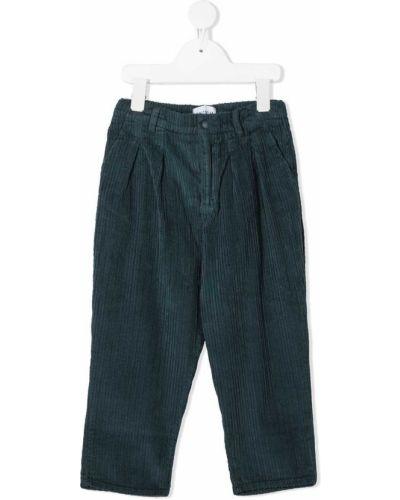 Хлопковые брючные синие брюки с карманами Wolf & Rita