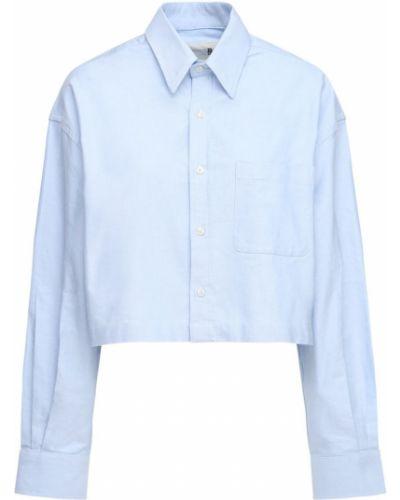 Хлопковая рубашка - голубая R13