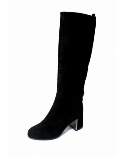 Черные сапоги на каблуке Blizzarini