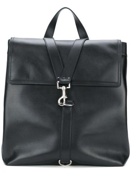 Klasyczny czarny plecak skórzany Valentino