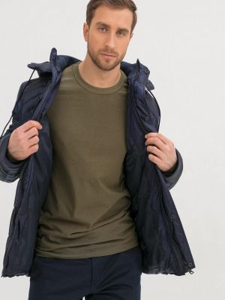 Теплая синяя утепленная куртка Jan Steen