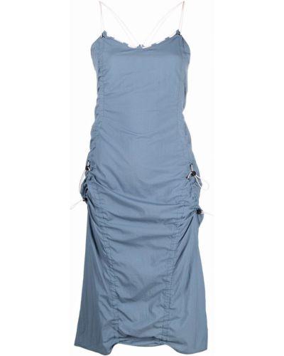 Платье миди - синее Mcq