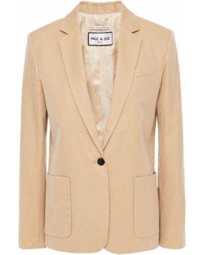 Бежевый пиджак с накладными карманами на пуговицах Paul & Joe