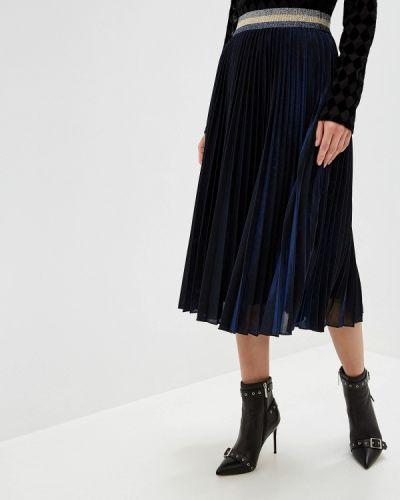 Плиссированная юбка синяя Silvian Heach