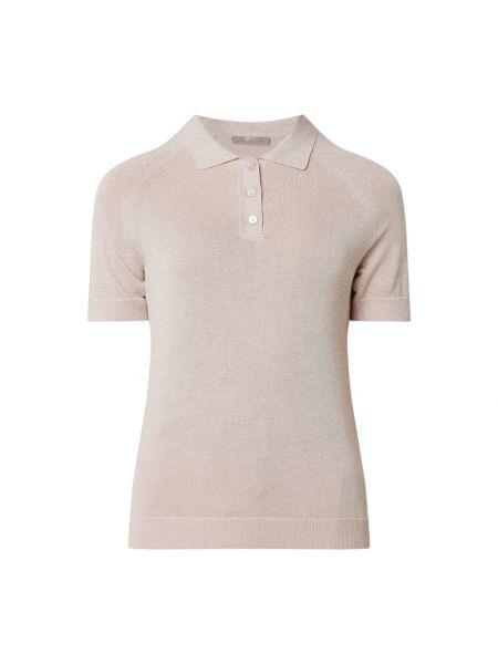 Prążkowany różowy t-shirt z wiskozy Jake*s Collection