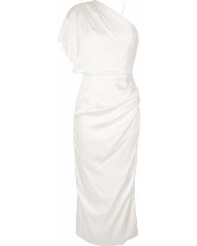 Приталенное платье на одно плечо с драпировкой на молнии Manning Cartell