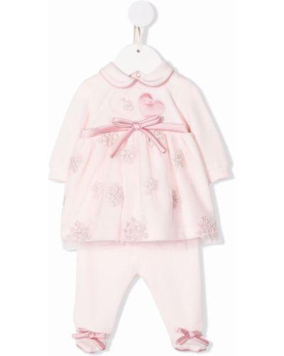 Różowa piżama z długimi rękawami Colorichiari