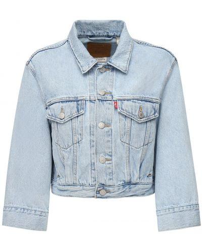 Ватная синяя джинсовая куртка с накладными карманами Levi's Red Tab