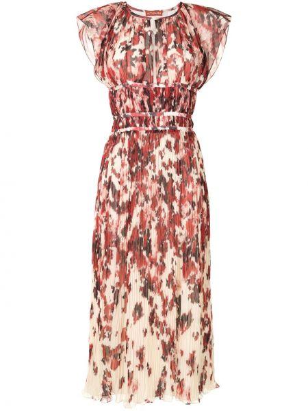 Красное платье миди без рукавов с разрезом Altuzarra