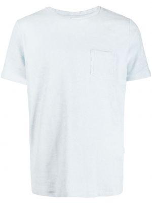 Niebieski t-shirt bawełniany krótki rękaw Bluemint