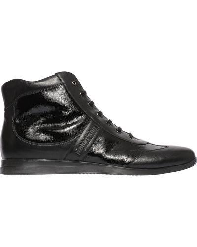 Кожаные ботинки осенние лаковый Pakerson