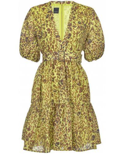 Żółta sukienka Pinko