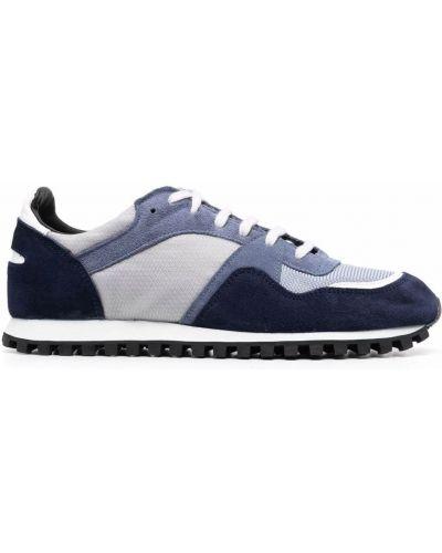 Niebieskie buty sportowe skorzane Spalwart
