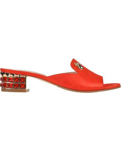 Мюли красные на каблуке Marino Fabiani