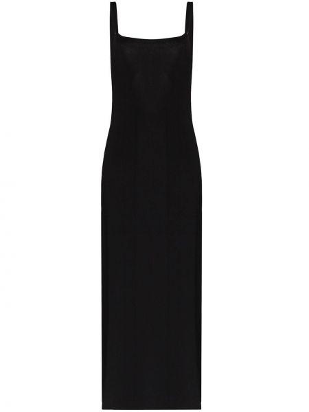 Приталенное тонкое платье макси с открытой спиной Matteau