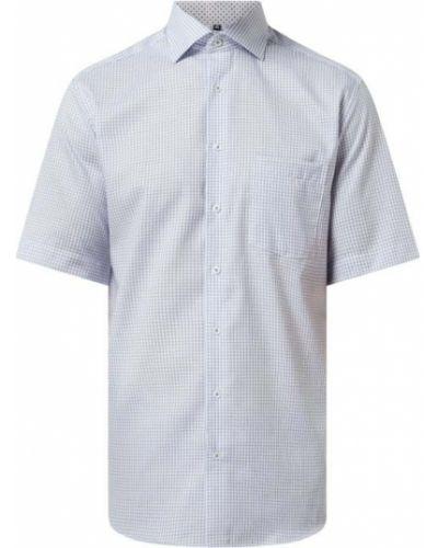Koszula w kratę bawełniana krótki rękaw Eterna