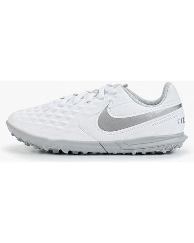 Бутсы кожаные белый Nike