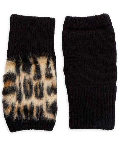 Rękawiczki bez palców wełniane - czarne Jocelyn