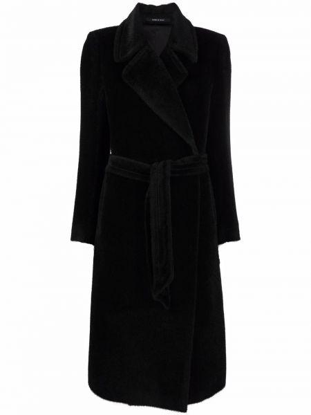 Черное длинное пальто Tagliatore