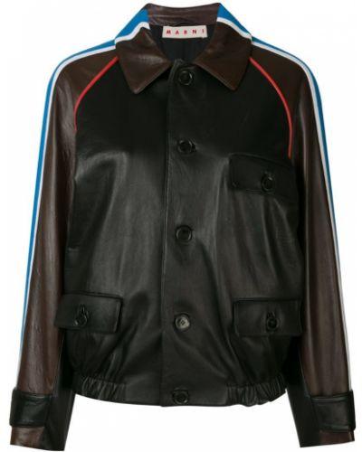Длинная куртка в полоску Marni