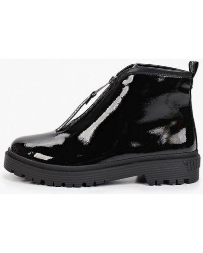Черные лаковые кожаные ботинки Makfine