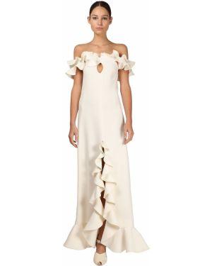 Платье через плечо с открытыми плечами Giambattista Valli