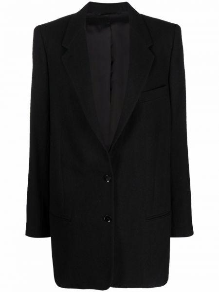 Шерстяной пиджак - черный Lemaire
