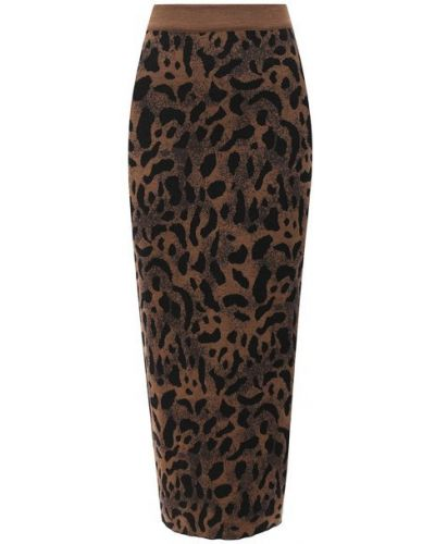 Шерстяная юбка - коричневая Tak.ori