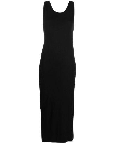 Sukienka długa bawełniana - czarna Thom Krom