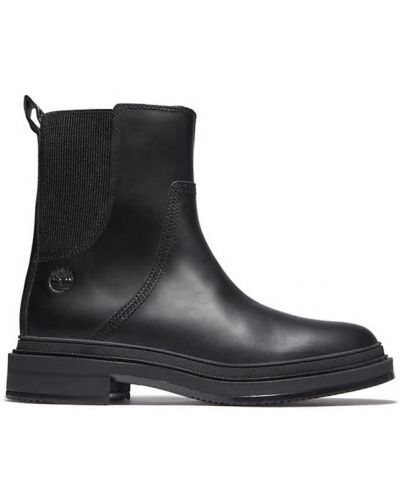 Кожаные ботинки челси - черные Timberland