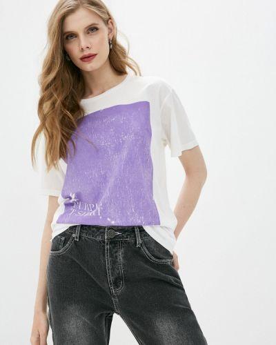 Белая футболка с короткими рукавами One Teaspoon