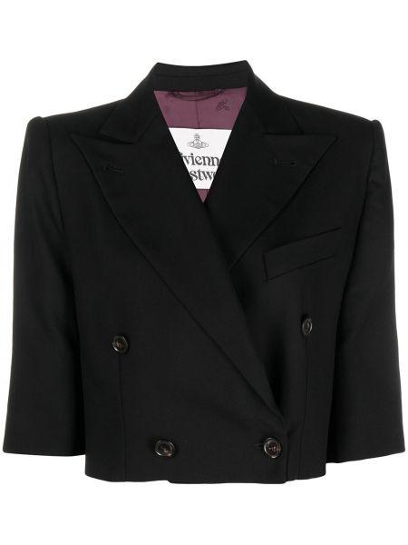 С рукавами черная куртка для полных Vivienne Westwood