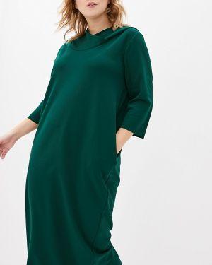 Повседневное платье осеннее зеленый Kitana By Rinascimento