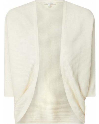 Biały sweter bez zapięcia Tom Tailor Denim