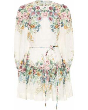 Летнее платье мини с цветочным принтом Zimmermann