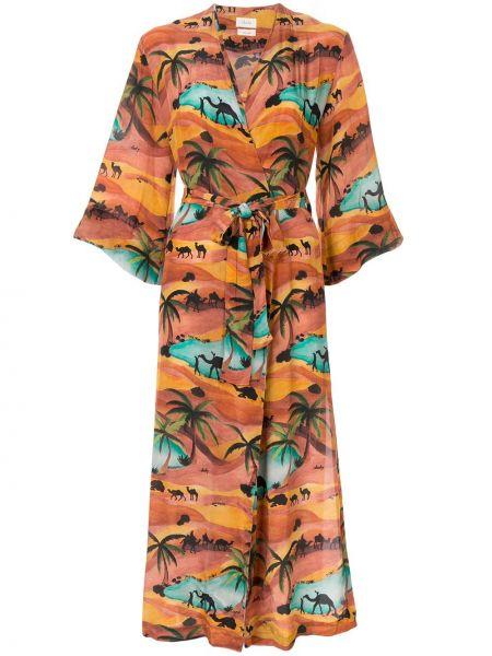 Платье мини с запахом сафари Chufy