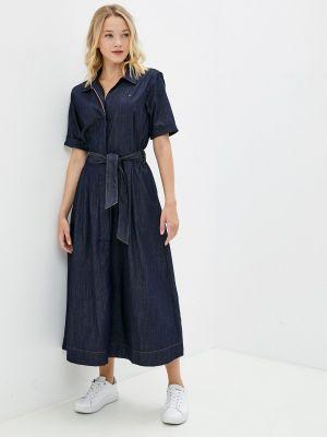 Синее джинсовое платье Tommy Hilfiger