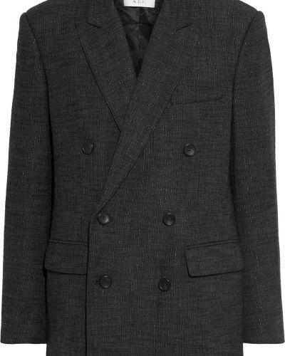 Пиджак двубортный с карманами из вискозы A.l.c.