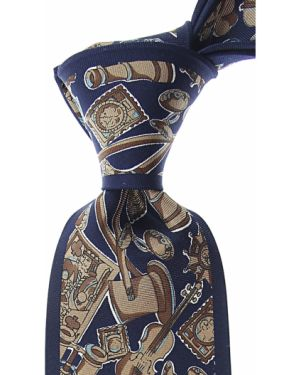 Brązowy krawat z jedwabiu Mila Schon