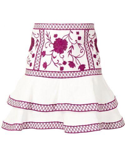 Bielizna z wysokim stanem spódnica mini z haftem Alexis