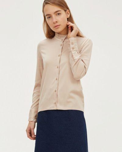 Блузка с длинным рукавом бежевый базовый Base Forms
