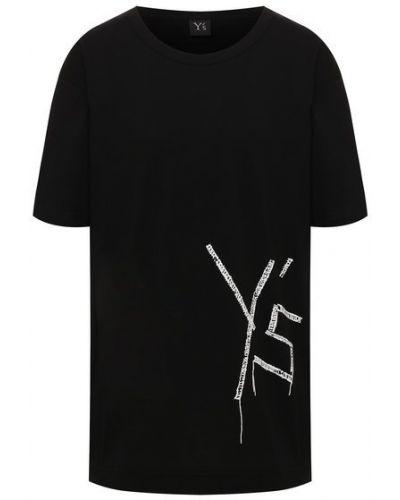 Хлопковая футболка - черная Y`s