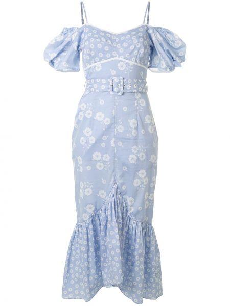 Тонкое платье миди на бретелях с V-образным вырезом на молнии Alice Mccall